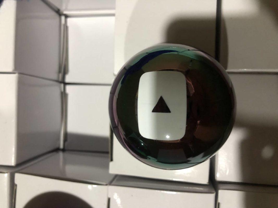 youtube logo onto magic 8 ball