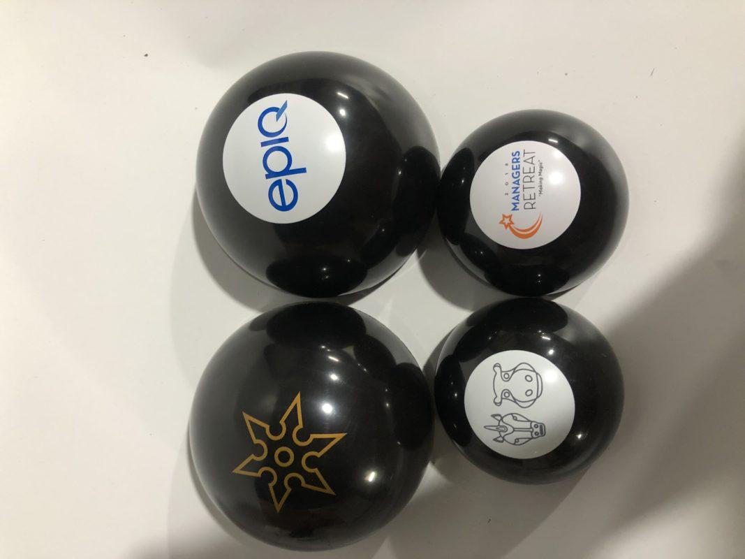 custom logo magic 8 ball size