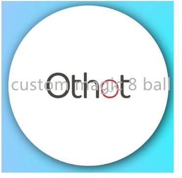 custom 8 ball with company logo