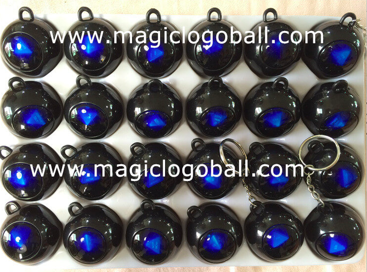 magic 8 ball keychain black color