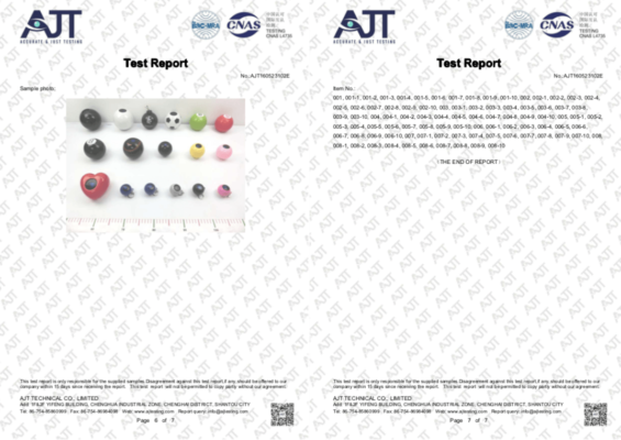 ASTM safety report