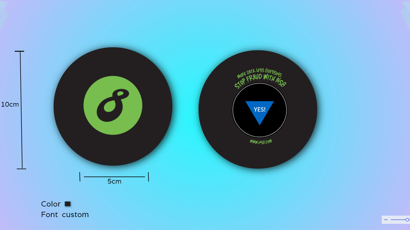 magic 8 ball outlook design